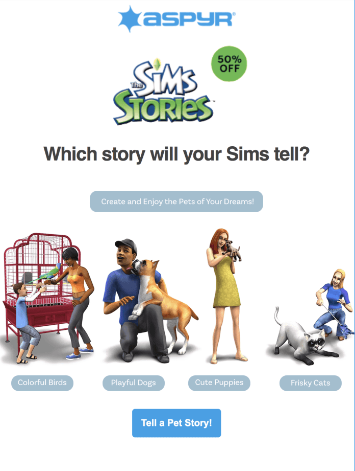 Get 50% Off The Sims Stories on Mac App Store