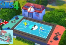 Pokemon Battle Scene Recreation in The Sims 4