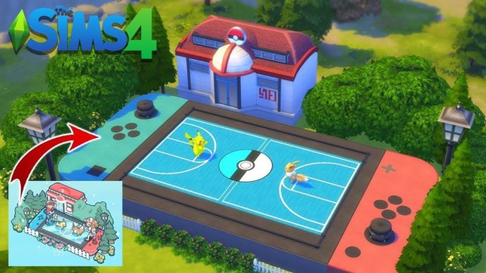 Pokemon Battle Scene Recreation in The Sims 4