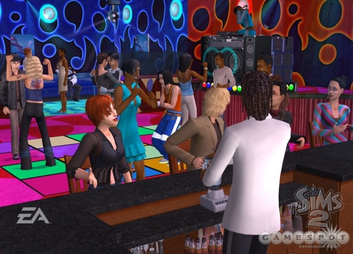 Partying in The Sims 2 Nightlife