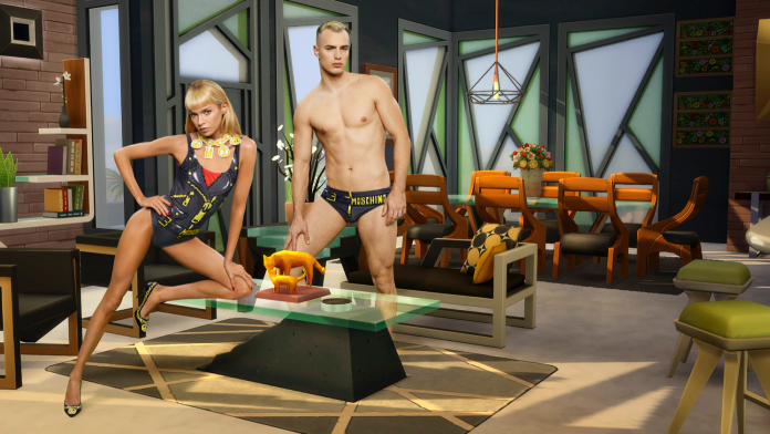 #MoschinoXTheSims collaboration