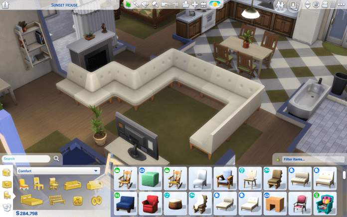 Modular sofas are new in this game pack and are a big stand out feature!