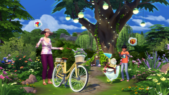 Sim with a bicycle