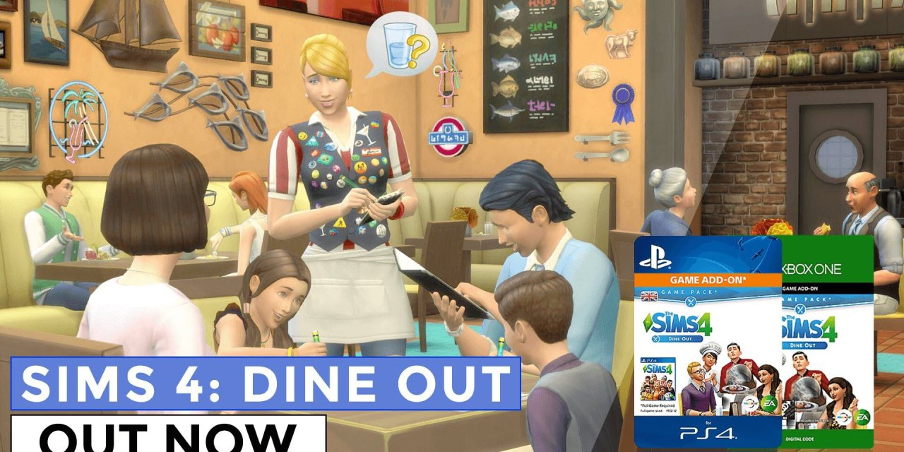 The Sims 4 Dine Out Arrives On PS4 and Xbox One
