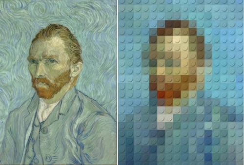 Vincent Van Gogh LEGOized