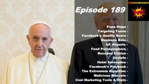 Pope Slaps Trump Meme, Facebook Quality Scores & Bansky Hotel Soundtrack