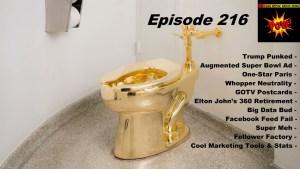 Beyond Social Media - Trump Gold Toilet - Episode 216
