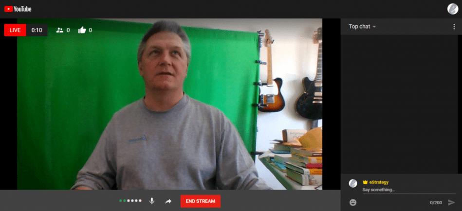 Screenshot: YouTube Go Live Livestream