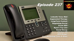 LinkedIn Voicemail, Augmented Therapy & Ryan's Toy Line