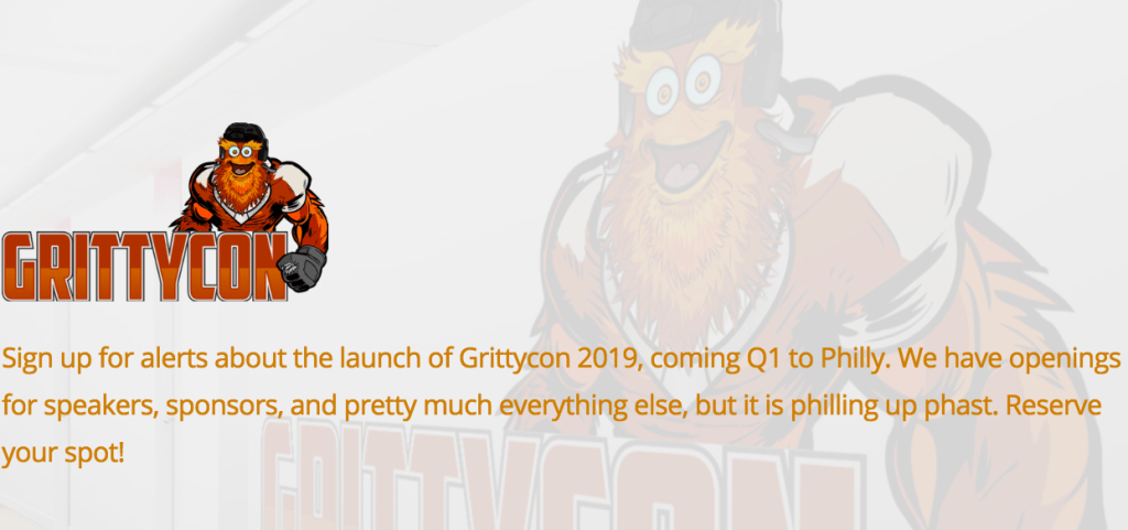 Gritty.con is coming to Philly