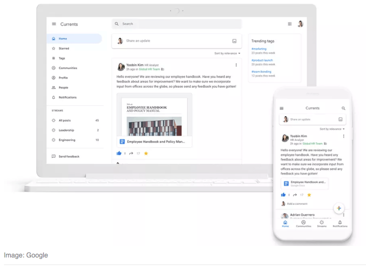 Google Currents will replace Google+ for GSuite users