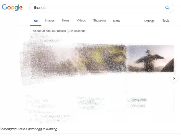 """Google """"Thanos"""" Easter Egg"""