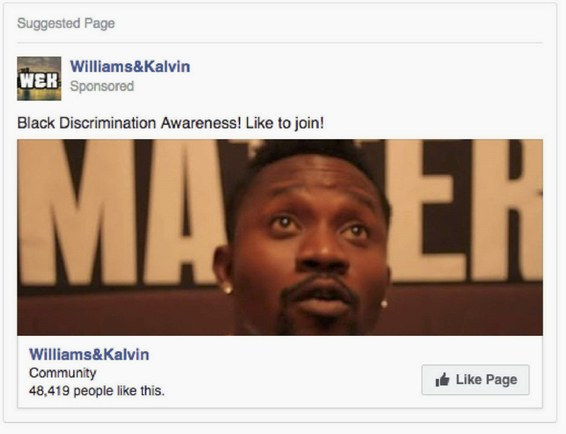 Russian Facebook Ad - Williams & Kalvin Ad 02