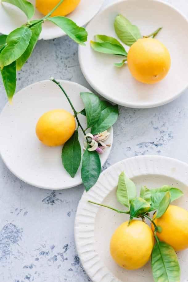 plates of Meyer lemons