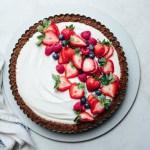 No Bake Berry Yogurt Tart