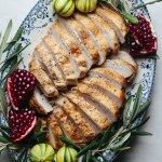 Lemon thyme poached turkey breast