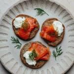 Buckwheat Blini with Smoked Salmon and Creme Fraiche