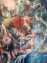 Cancer 4'x5' Oil on Canvas