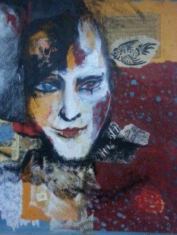 Brutal ResurrectionBy Cat Jones Mixed media on Canvas. (SOLD)