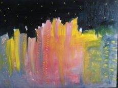 Nightscape 18 x 24 Oil on canvas (Sold)