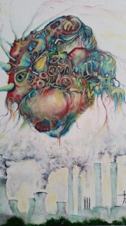 Molecule. Oil on canvas. (SOLD)