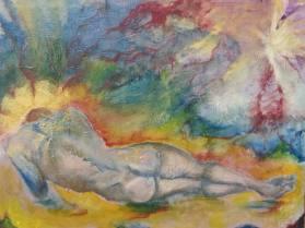 """""""Rude Awakening"""" 16 x 20 Oil on canvas By Cat Jones"""