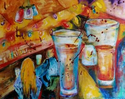 Christmas, 2015. Bombers Burrito Bar. Oil on canvas By Cat Jones