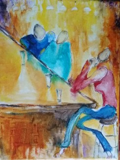 Day Jobs. Oil on canvas. SOLD