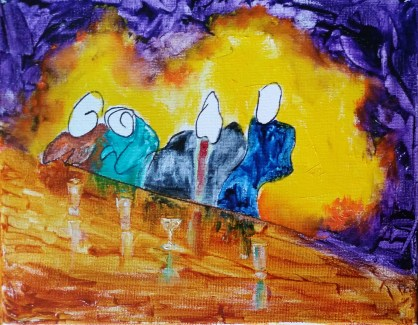 The Regulars. Oil on canvas. SOLD