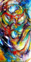 "The Portal. 24 x 48"" Oil on canvas. By Cat Jones"