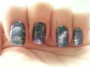 Day 19 - Galaxy Nails