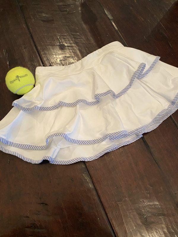 girls seersucker tennis skort