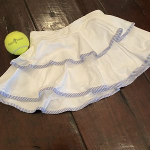 girls seersucker tennis skort