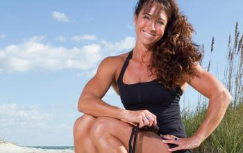 fitness director on beach