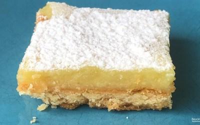 Recette des carrés citron