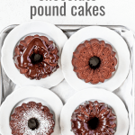 Mini Bundt Chocolate Pound Cakes on a baking sheet | All images © Beyond the Butter™