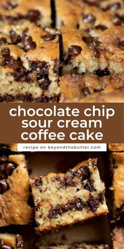Chocolate chip sour cream coffee cake from BeyondtheButter.com | © Beyond the Butter®