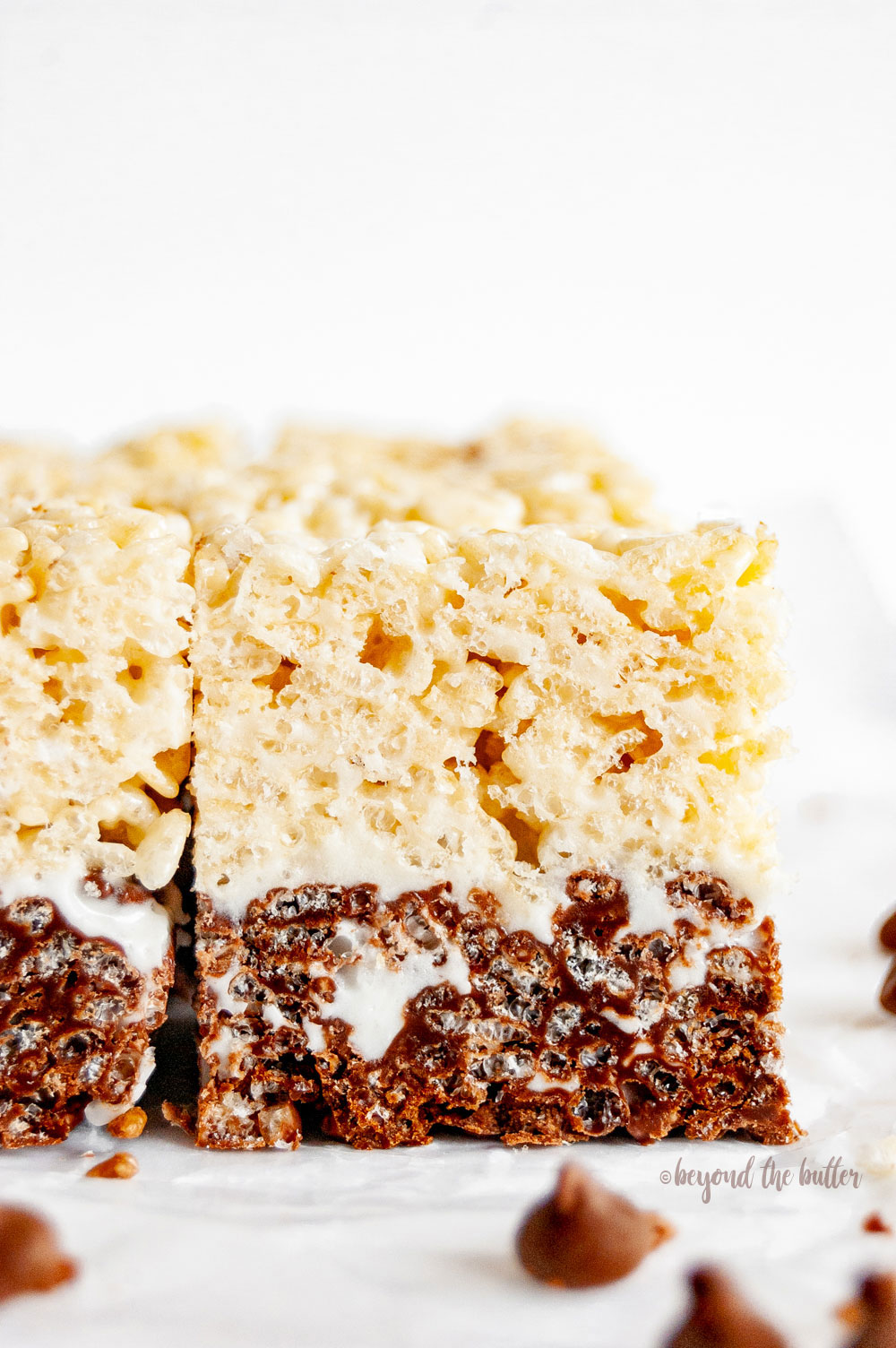 Chocolate-Vanilla Layered Rice Krispie Treats | All Images © Beyond the Butter, LLC
