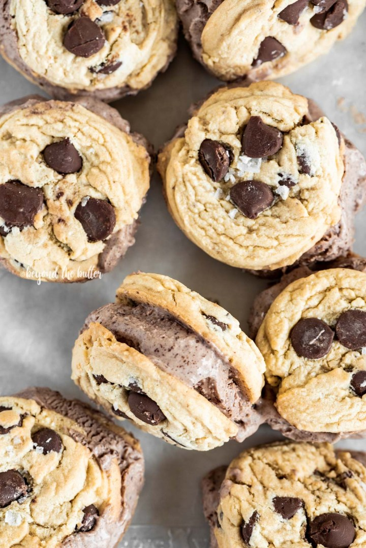 Homemade Ice Cream Cookie Sandwiches with No-Churn Chocolate Ice Cream | All Images © Beyond the Butter, LLC