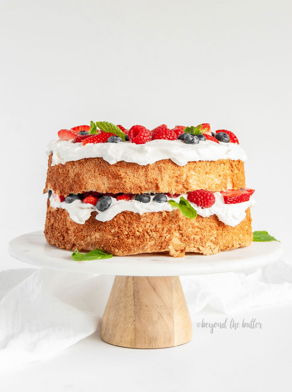 Homemade Angel Food Cake With Berries Beyond The Butter