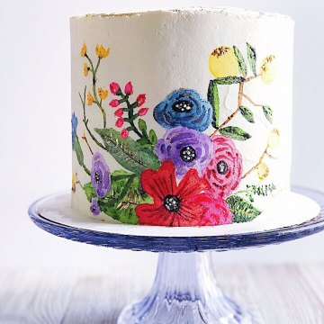 How to Paint on a Buttercream Cake | Image Credit: Beyond the Butter, LLC