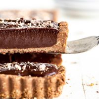 No-Bake Dark Chocolate Tart
