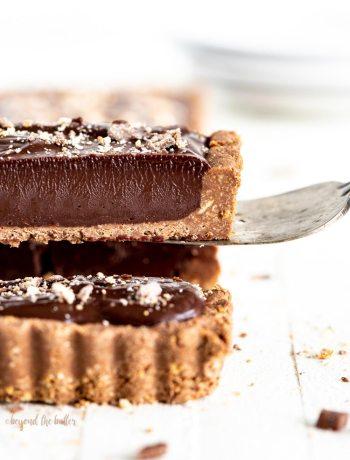No-bake Dark Chocolate Tart | All images © Beyond the Butter, LLC