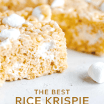 Pinterest image of the best rice krispie treats | All Images © Beyond the Butter™