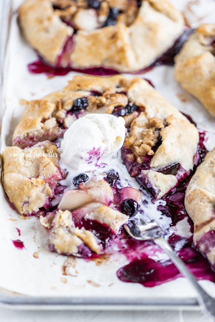 Blueberry Peach Galettes recipe | All Images © Beyond the Butter, LLC