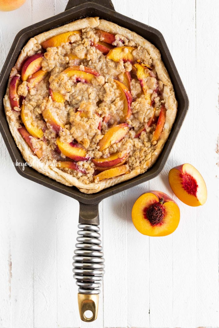 Brown Sugar Peach Crumble Pie | All Images © Beyond the Butter, LLC