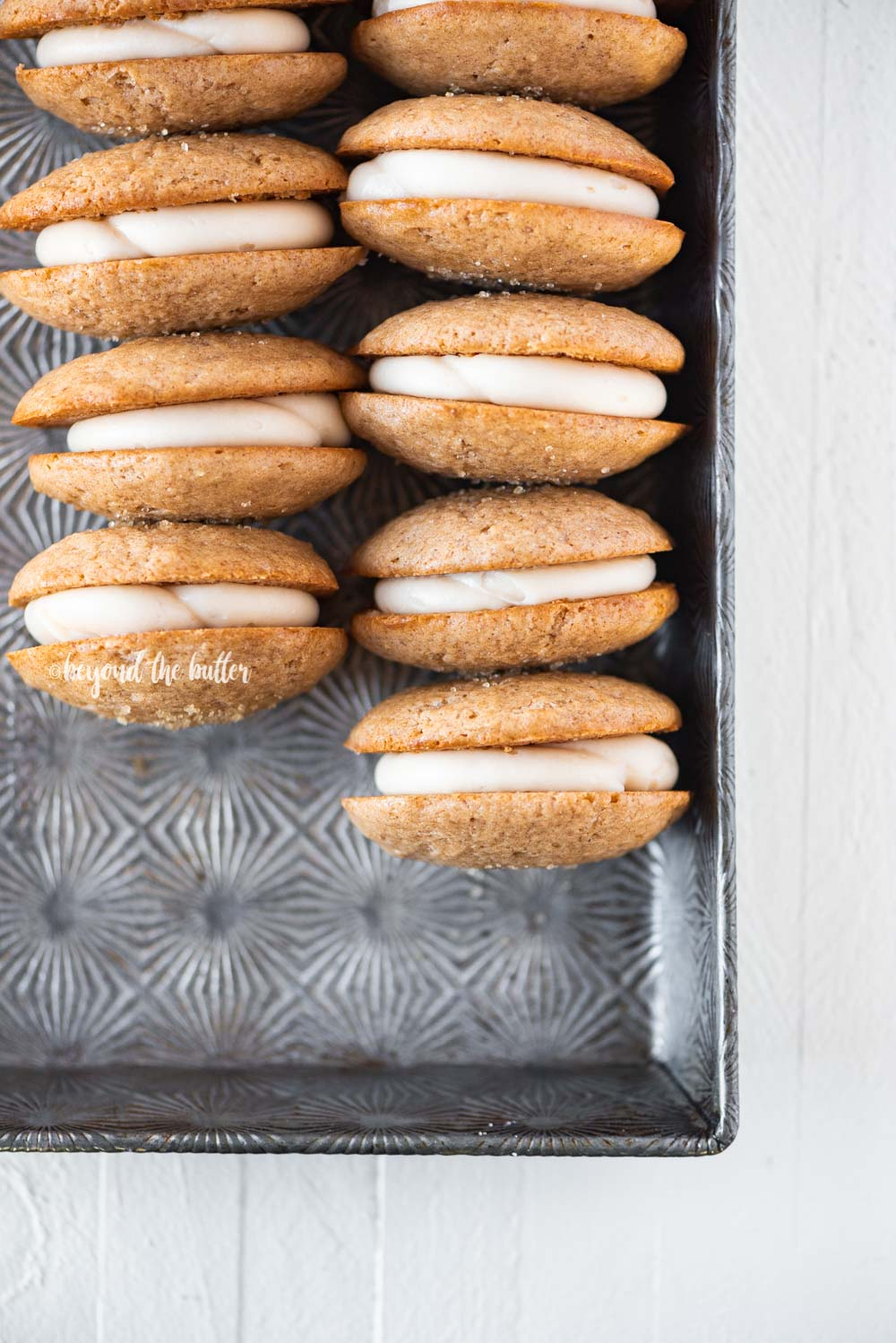 Apple Cider Whoopie Pies with Caramel Cream Cheese Frosting | All Images © Beyond the Butter, LLC