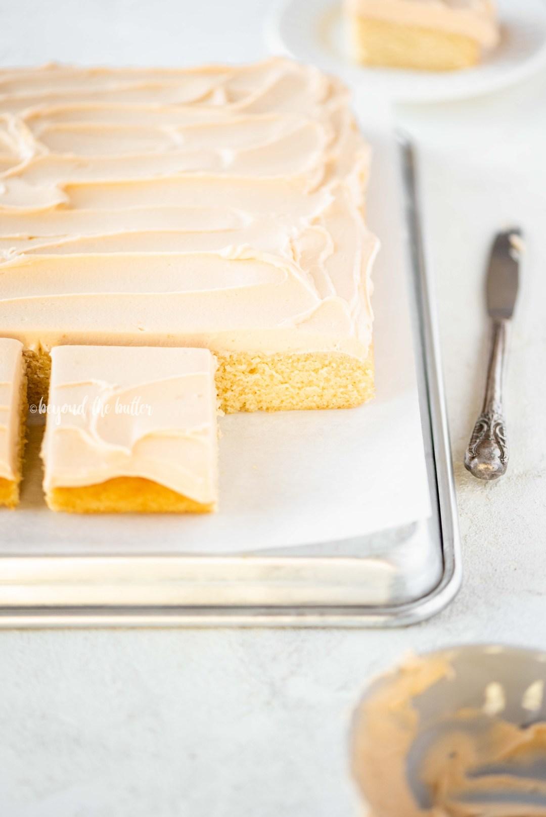 Homemade Butterscotch Krimpet Sheet Cake recipe | All Images © Beyond the Butter, LLC
