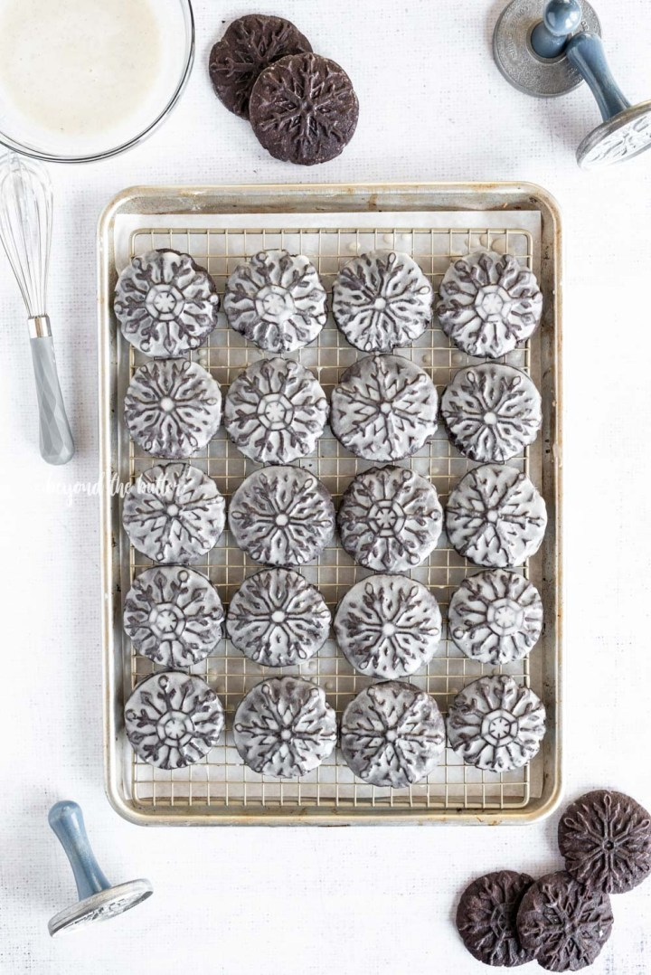 Homemade Oreo Snowflake Cookies recipe | All Images © Beyond the Butter, LLC