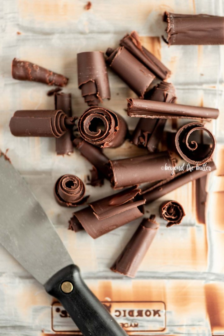 How to Make Chocolate Curls | All Images and Video © Beyond the Butter, LLC